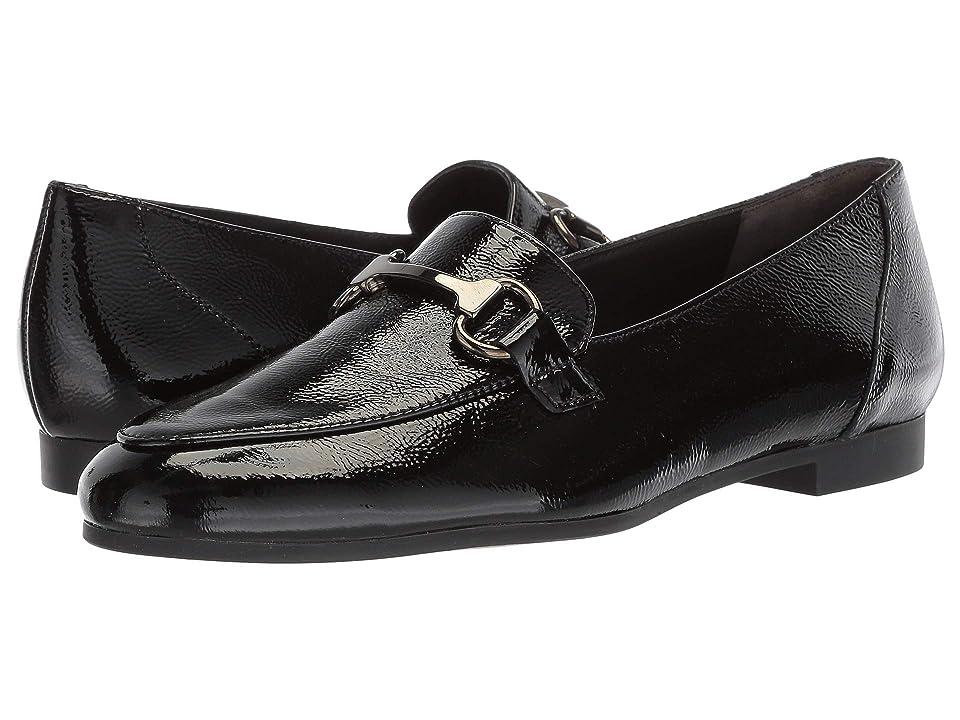Paul Green Tosi Flat (Black Crinkled Patent) Women