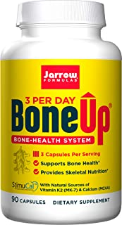 Jarrow Formulas Bone-Up-Three Per Day Caps, Promotes Bone Density, 90 Count