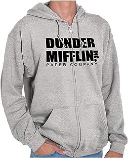 Dunder Paper Company Mifflin Office TV Show Zip Hoodie