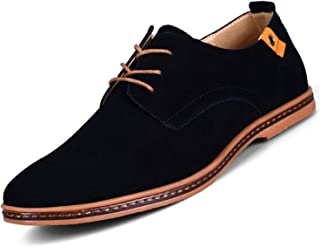 Men Shoes Casual Suede Leather Shoes Mens Loafers Black Oxford Shoes Men