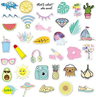 Vsco Stickers Pack 35 Pcs Cute Stickers Aesthetic Stickers Vinyl Vsco Decals for Hydro Flask Water Bottle Teens Girls Laptop Ipad Luggage Helmet Car Suitcase