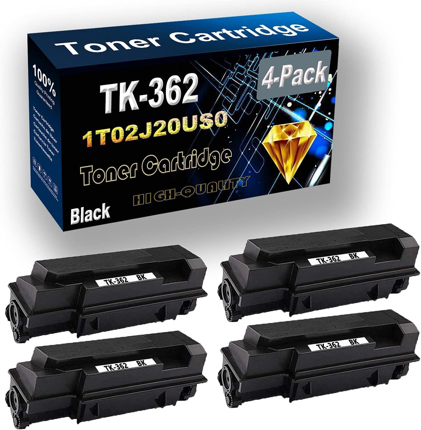 Remanufactured Toner Cartridge Replacement for Kyocera TK362 TK-362 | 1T02J20US0 for Kyocera FS-4020DN Printer (4-Pack Black)