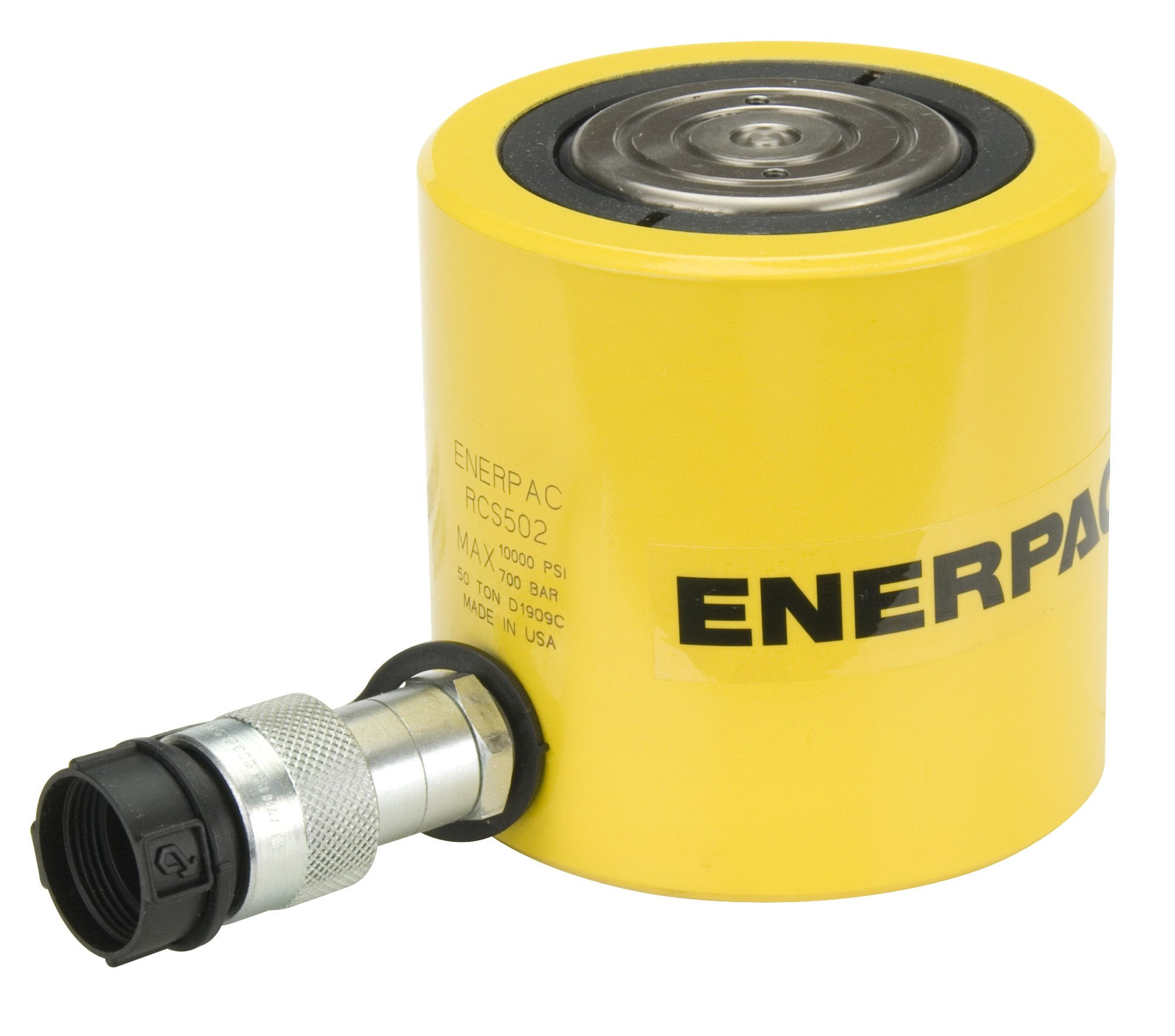 4.13 Stroke 4.13 Stroke Single Port Enerpac RC-104 Single-Acting Alloy Steel Hydraulic Cylinder with 10 Ton Capacity