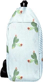 EZIOLY Succulentas han crecido pequeñas flores hombro mochila bandolera bandolera viaje senderismo mochila para hombres mujeres
