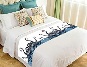 Custom Creative Octopus Bed Runner Bedding Scarf Size 20x95 inches