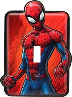 Marvel Spider-Man Metal Light Switch Plate Vintage Embossed Metal Wall Art Sign - An Officially Licensed Product Great Addition To Add What You Love to Your Home/Garage Decor