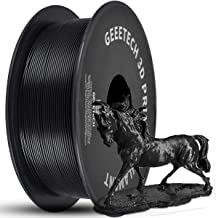 GEEETECH PLA 3D Printer Filament 1.75mm Black, 1kg (2.2lbs) Spool, Upgrade Tidy Winding Tangle-Free