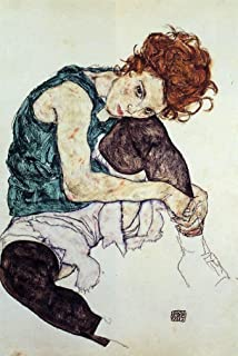 Art Oyster Egon Schiele Seated Woman with Bent Knee - 16.1