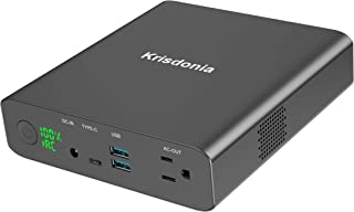 Krisdonia AC Outlet Portable Laptop Charger (TSA-Approved) 27000mAh 130W Travel Laptop Power Bank & External Battery Pack for MacBook, Laptop and More