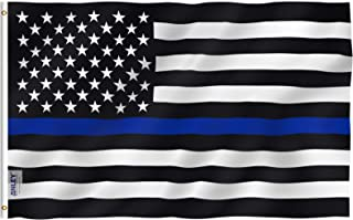 thin blue line flag 4x6