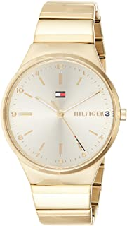 Tommy Hilfiger Kate Women's Gold Dial Gold Plated Stainless Steel Band Watch - 1781798