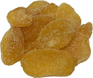 NUTS U.S. - Dried Crystallized Ginger Slices in Resealable Bag (Unsulfured 1 LB)