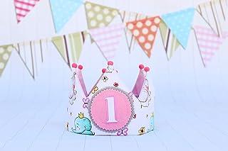 Corona cumpleaños de tela decoración infantil regalo primer cumpleaños