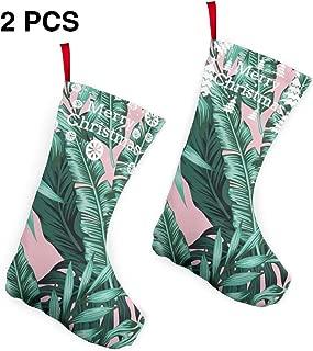 xueminlidianzi Christmas Stocking Sock Tropical Palm Tree (45) 2 PCS Classic Personalized Stocking Christmas Stocking Xmas Socks