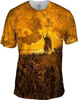 Gustave Dore - Paradise Lost 3 Gold (1857) -Tshirt- Mens Shirt