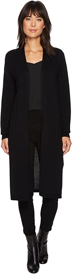 Vince Camuto - Long Sleeve Open Front Textured Long Cardigan