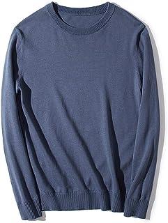 Guandoo Mens Classic Fit Fine Gauge 100% Cotton Crew Neck Sweater Unisex Casual Sweater