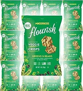 Popcorners Greens and Beans, Lightly Salted Veggie Crisps, 0.75oz Bag (Pack of 12, Total of 9 Oz)