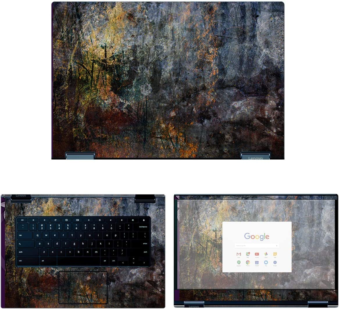 decalrus Large-scale sale - Protective Decal Skin Sticker ChromeB for 2021 Yoga Lenovo