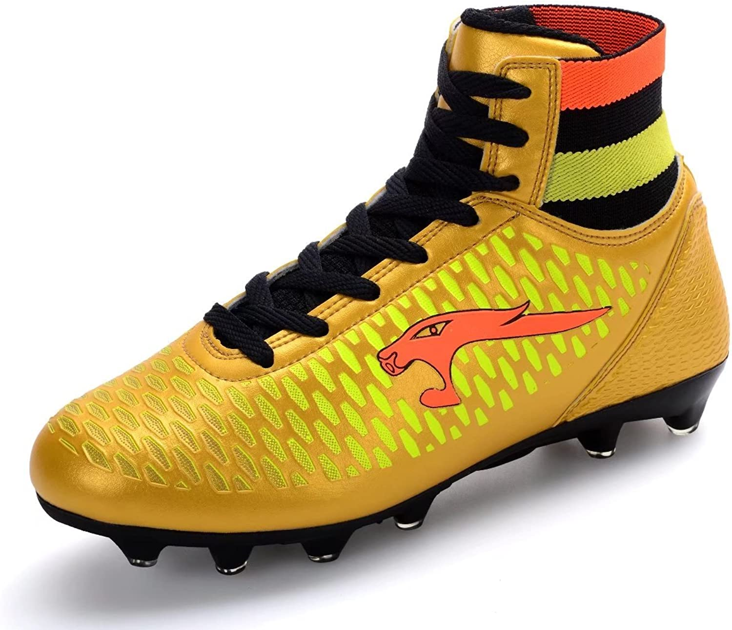 Men's American Football Rugby shoes AnkleHigh Breathable Mid Soccer shoes Boots for Boy