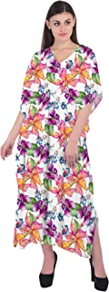 RADANYA Womens Maxi Dress Floral Printed Casual Long Dresses Summer Loose Kaftan