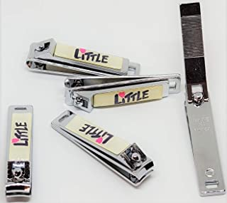 LITTLE BRAND KID'S DELUXE STAINLESS STEEL NAIL CLIPPERS W/FILE FOR INFANT, TODLER, KID'S, BABY, CHILD (MADE IN KOREA) (1)