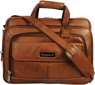 BAG JACK - Natural Grain Leather | Handcrafted | Avior perfect Complement For Business-Casual Outfit | Office Laptop Bag |...