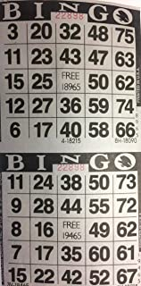 American Games INC 3000 Paper Bingo Cards-2 Cards per sheet-1500 Sheets [Choose Color Below] (Black)