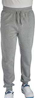 Vertical Sport Men's Active Basic Joggers with Pockets Athletic Fit Closed Bottom Light Weight Fleece Sweatpant