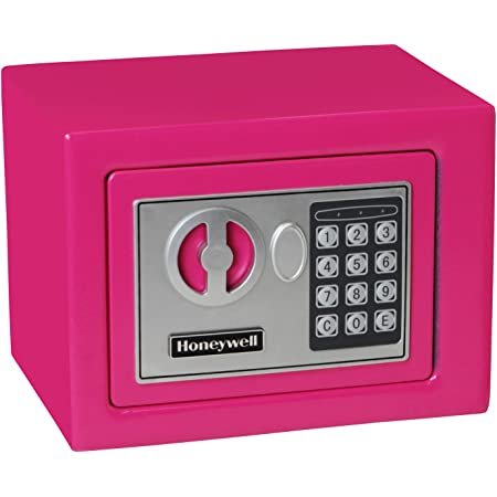 Honeywell Safes & Door Locks 5005P HONEYWELL-5005P Steel Security Safe with Digital Lock, 0.17-Cubic Feet, Pink, 0.17 Cubic Feet