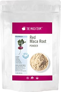 The Maca Team Gelatinized Red Maca Powder, 100% Organic, Fair Trade, GMO-Free Maca Powder, 1 Pound, 50 Servings