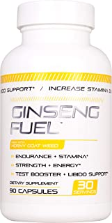 Ginseng Fuel Male Enhancing Pills (1 Month Supply) - Enlargement Booster for Men - Increase Size, Strength, Stamina - Energy, Mood, Endurance Boost - All Natural Performance Supplement - Made in USA