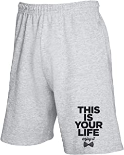 Pantalones Deportivos Cortos Gris CIT0230 This IS Your Life Enjoy IT
