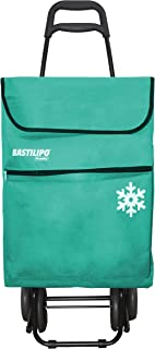 comprar comparacion Bastilipo Verde Agua Julia Carro de la Compra de 4 Ruedas Plegables con Bolsa térmica, Lona, Capacidad 50 litros