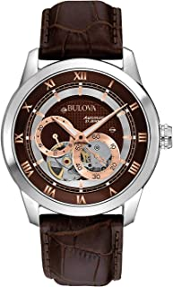 Bulova Men's Brown 96A120 BVA Series Dual Aperture Dial Watch