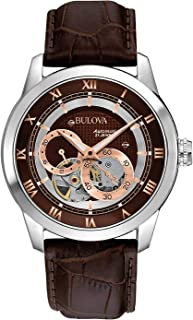 Men's Brown 96A120 BVA Series Dual Aperture Dial Watch