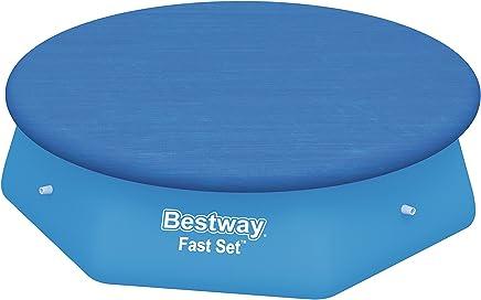 Bestway Fast Set Swimming Pool Cover, Blue, 244 cm