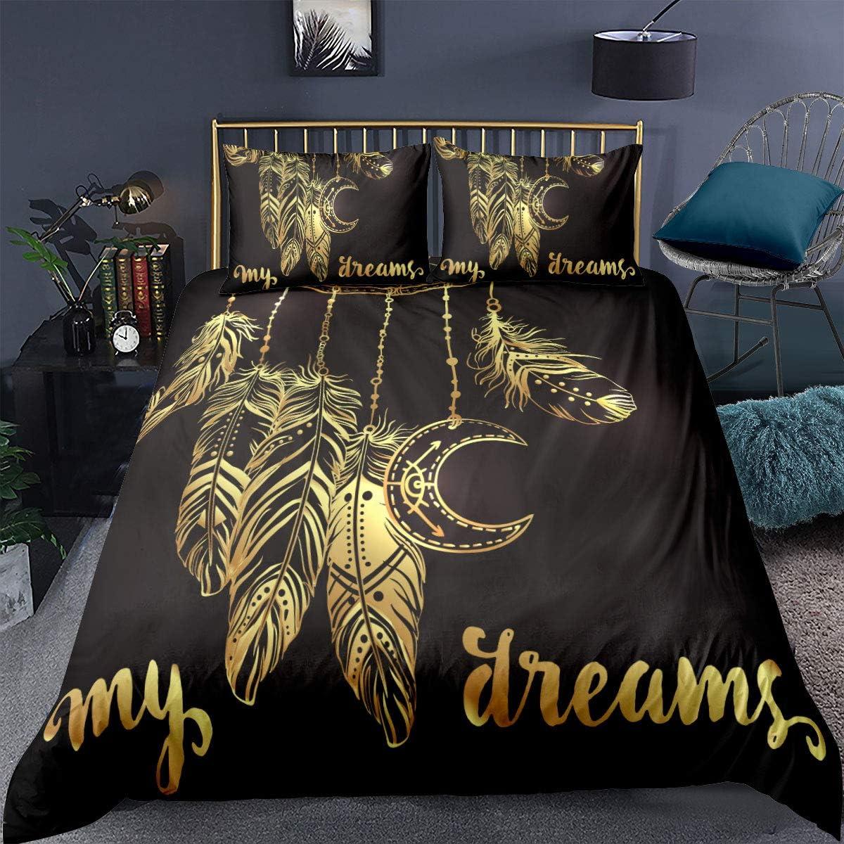 Feelyou Directly managed store Dream discount Catcher Bedding Dreamcatcher Comforter Boho Print