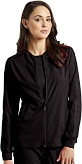 Fit by White Cross Women's Zip up Mesh Accent Warm up Jacket