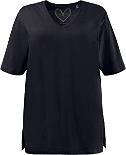 ULLA POPKEN T-Shirt, V-Ausschnitt Donna