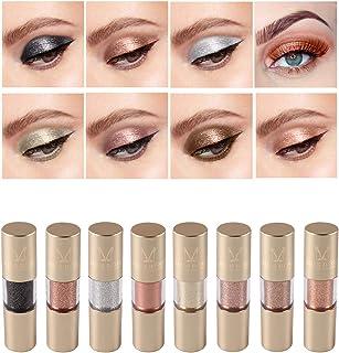 Metallic Shimmer Liquid Eyeliner Set, 8 Colors Glitter Metal