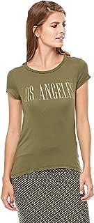 Stradivarius T-Shirts For Women, Olive Green S