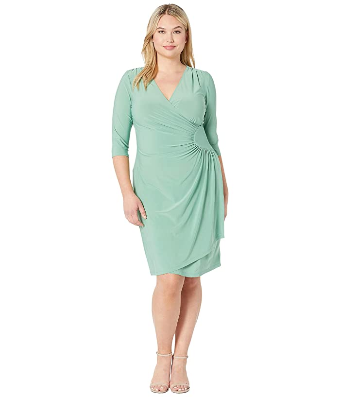 Kiyonna Ciara Cinch Dress (Sage) Women's Dress