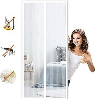 Zanzariera Porta Finestra Magnetica Adsorbimento Magnetico Pieghevole Totalmente Magnetica CHENG Zanzariera Magnetica 90x230cm Adatto per Porte Fino a Nero