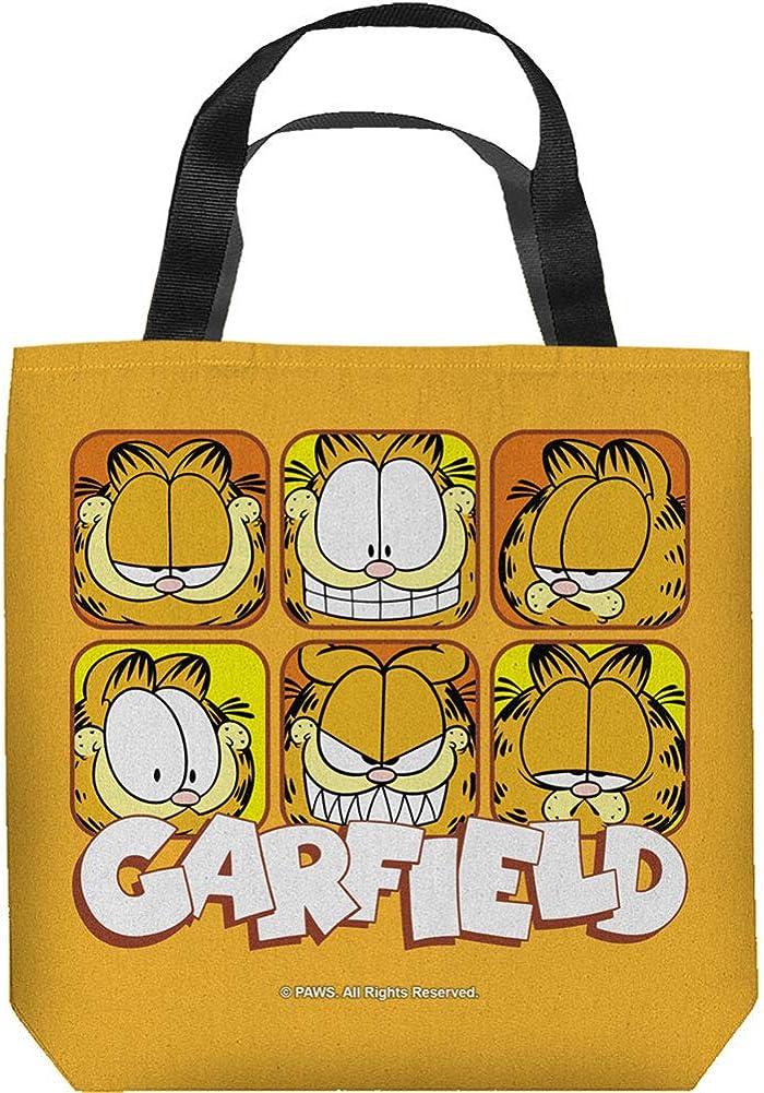 Garfield Comic Cartoon TV Show Animated Series Faces Tote Bag