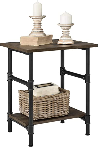 Ameriwood Home Carter End Table Rustic