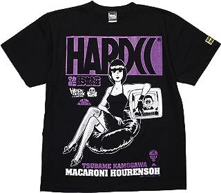 (ハードコアチョコレート) HARDCORE CHOCOLATE マカロニほうれん荘 (おー、おっほブラック×パープル)(SS:TEE)(T-1068-BK) Tシャツ 半袖 カットソー アニメ 漫画 マンガ 鴨川つばめ