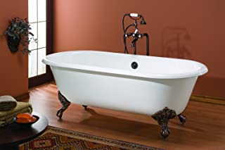 Cheviot Products Inc. 2126-WC-6-PN Cheviot Products Regal Cast Iron Bathtub with Flat Area For Faucet Holes Custom 6