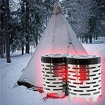 STARTER Estufa De Camping, Estufa De Madera/Estufa De Mochilero, Estufa De Leña Portátil De Acero Inoxidable Estufa De Camping Portátil Estufa De Calefacción De Mini Carpa