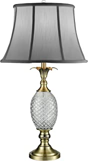 Dale Tiffany SGT17041 Brass Pineapple 24% Lead Crystal Table Lamp Antique